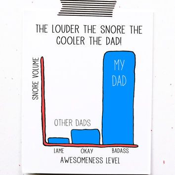 Funny fathers day greeting card dad birthday snores too loud my dad funny fathers day greeting card dad birthday snores too loud my dad is awesome to father bookmarktalkfo Gallery