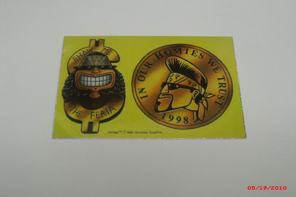 "NEW RETIRED HOMIES /""AZTECA AVENUE/"" STICKERS 1999"