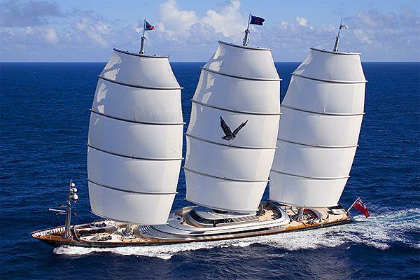 The Maltese Falcon Mega Yacht Maltese Falcon Yacht Sailing Yacht Sailing Ships