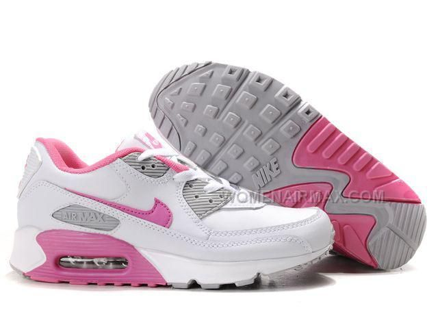 http://www.womenairmax.com/nike-air-max-90-womens-shoes-wholesale-white-pink-gray.html Only$89.00 #NIKE AIR MAX 90 WOMENS #SHOES WHOLESALE WHITE PINK GRAY #Free #Shipping!