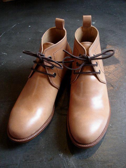 chausser ショセ c 712 cordovan nat junk shop online store ドレスシューズ メンズ チャッカブーツ 革靴