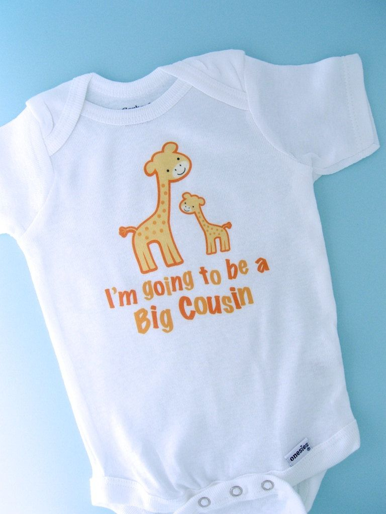 I M Going To Be A Big Cousin Giraffe Tee By