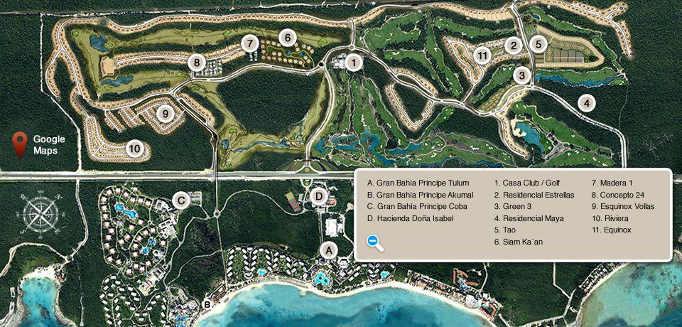 grand bahia principe rm all resorts map