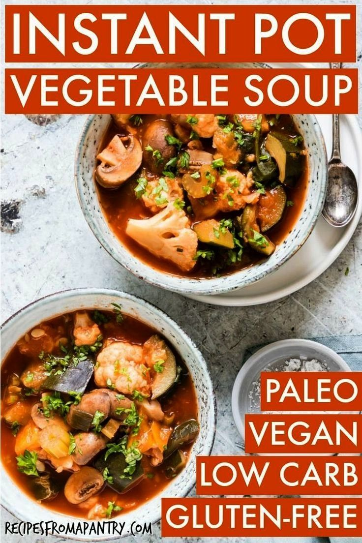 Pot Vegetable Soup with Zucchini is your next favourite vegetable soup recipe Its a low carb vegetable soup that is full of flavour and perfect for summer A vegan soup re...