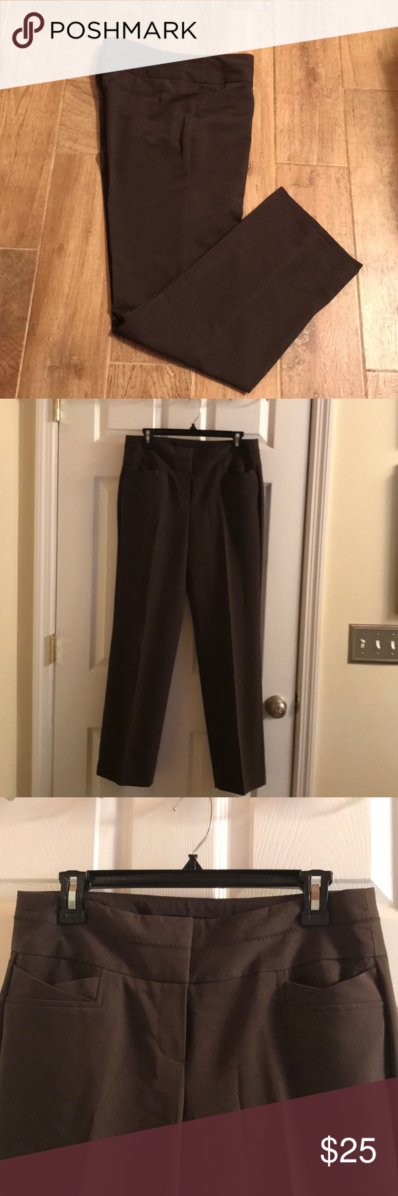Sharagano brand size dark brown dress pants my posh picks