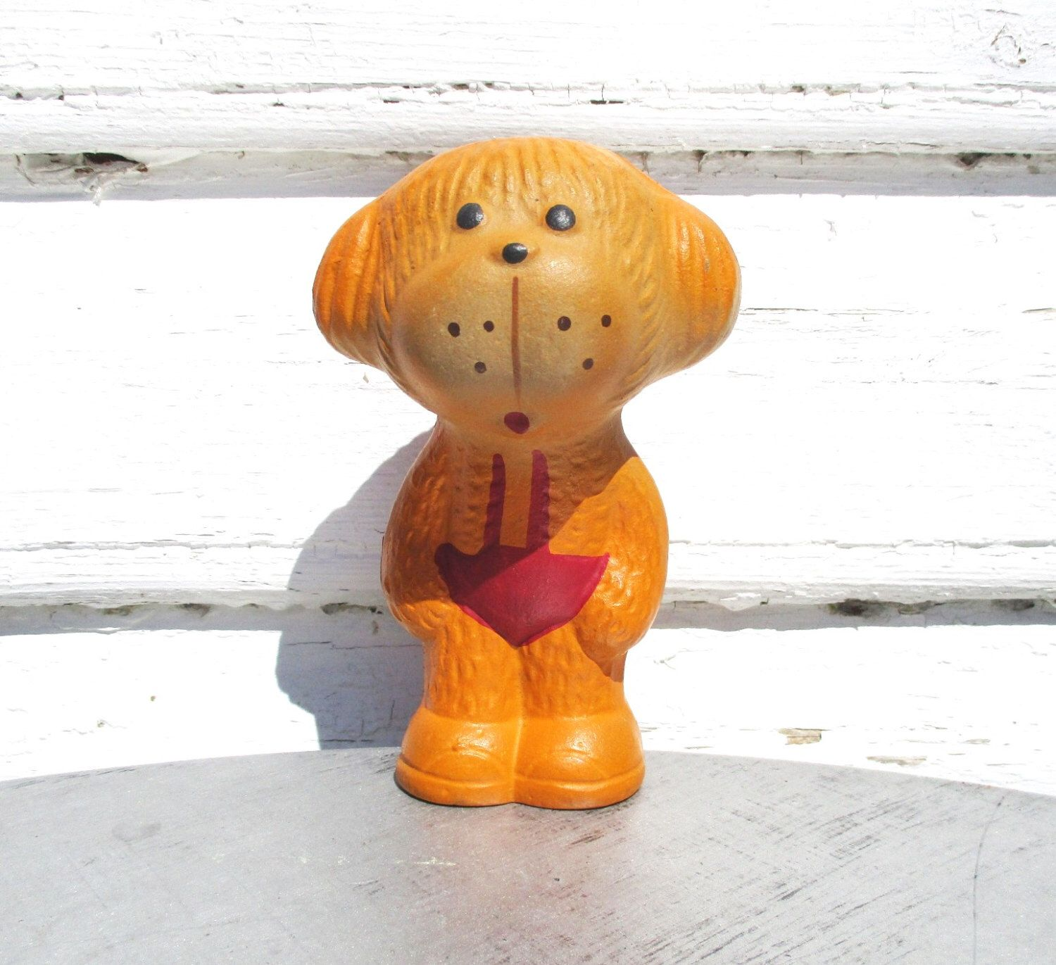 Made in USSR Rooster \u0421ockerel Vintage toy Bird 1960s Soviet rubber toy Old Russian Toys