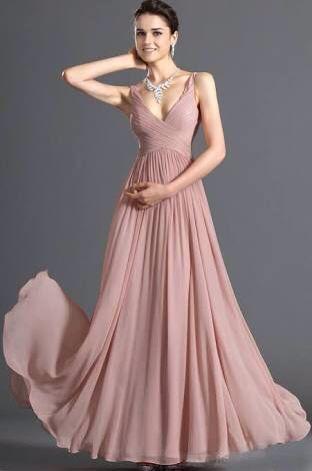 Vestidos largos elegantes salmon