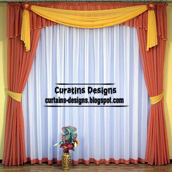 Modern Orange Curtain Turkish Curtain Design For Living Room Extraordinary Blue Curtain Designs Living Room Inspiration