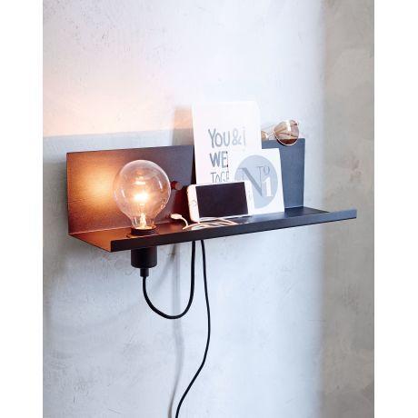 Wandleuchte Multi Usb Anschluss Ablagefläche Dimmer Skandinavisch Vorderansicht Wandleuchte Lampe Industrial Wand