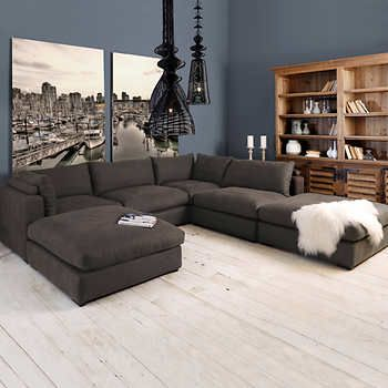 Portofino Home Valhalla 6 Piece Deep Seating Fabric Modular Sectional Sectional Sofa With Chaise Modular Sectional Sofa Deep Sectional Sofa