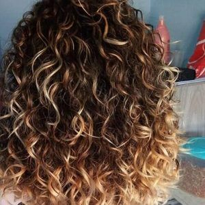 Curly Highlights Medium Curly Hair Styles Curly