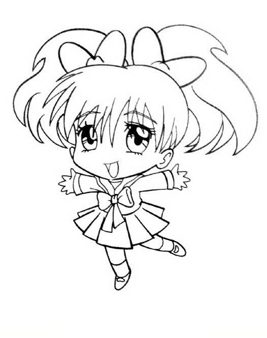 Manga Coloring Pages 19