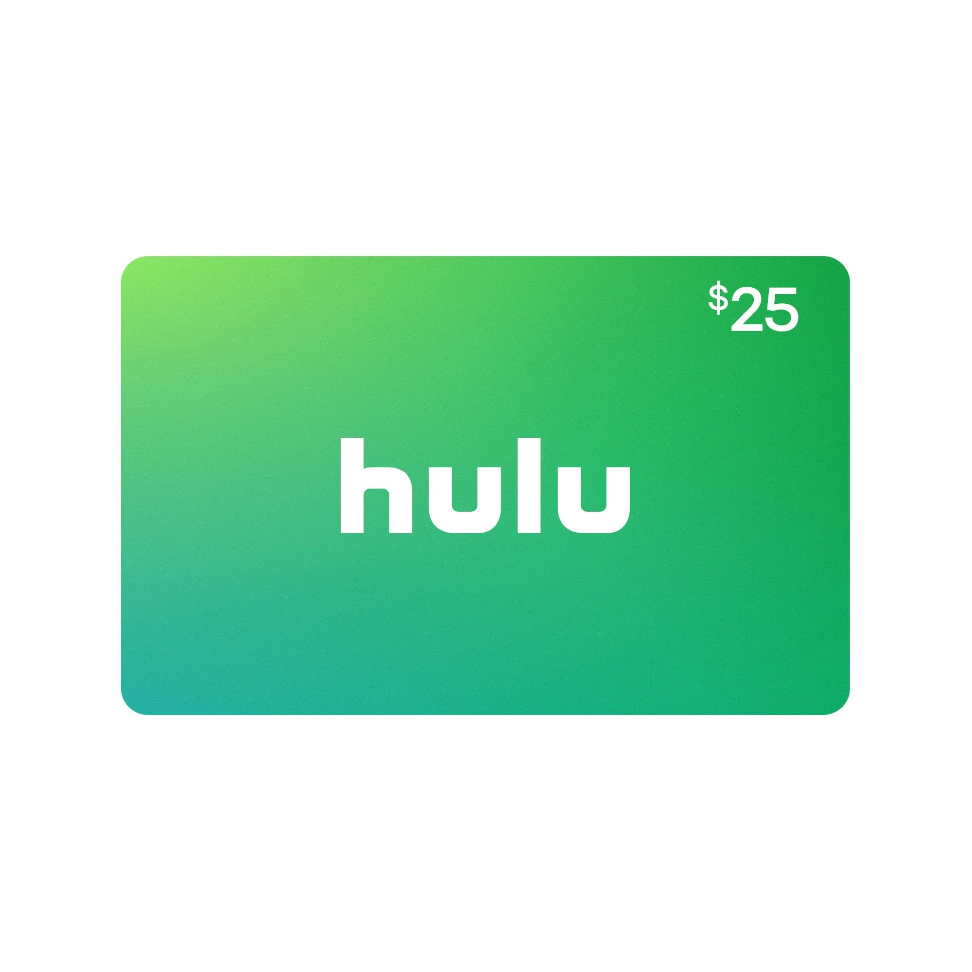 Hulu 25 Email Delivery Hulu Gift Card Cards