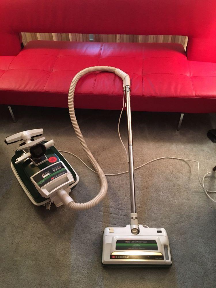 Vintage Eureka Rotomatic Powerteam Canister Vacuum Model