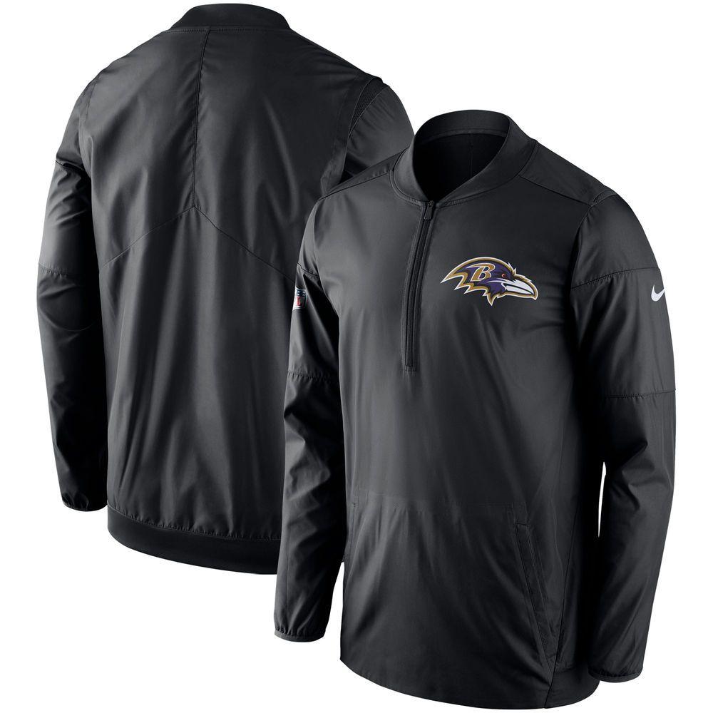 Baltimore Ravens Nike Sideline Lockdown Performance Half Zip Pullover Jacket Black Pullover Jacket Half Zip Pullover Half Zip Jacket [ 1000 x 1000 Pixel ]