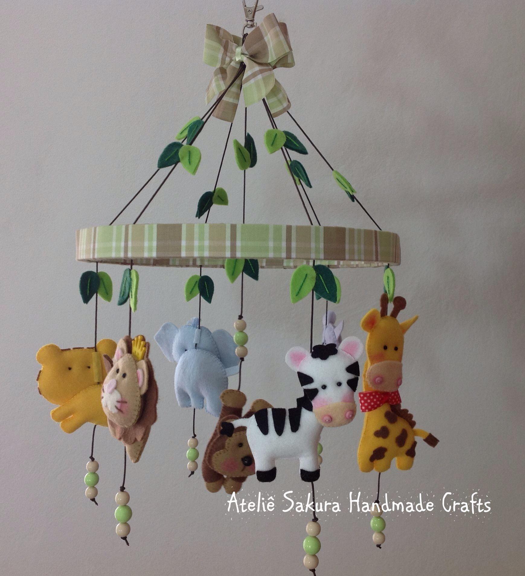 M Bile De Ber O Tema Safari Ateli Sakura Handmade Crafts  ~ Decoração De Quarto De Bebe Bichinhos Da Floresta