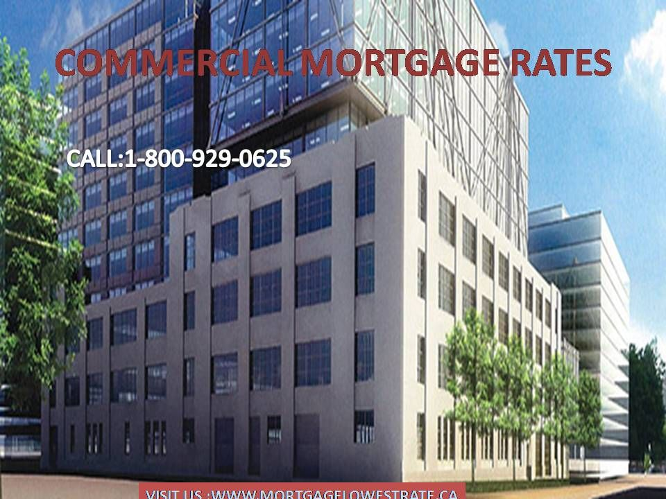 Commercial mortgage rates are executed using real estate
