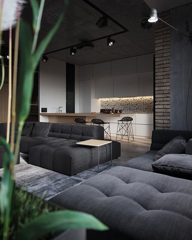 The apartment in kiev is designed and visualized by