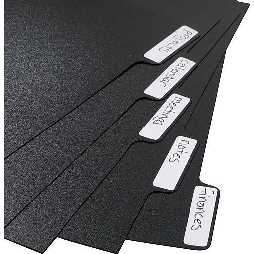 "Arc System Tab Dividers, Black, 5-5/6"" X 8-1/2"""