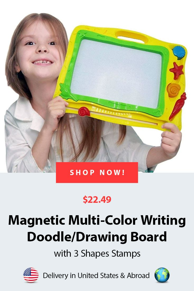 Doodle Board   Yellow Summer theme Magnetic Multi-Color ...
