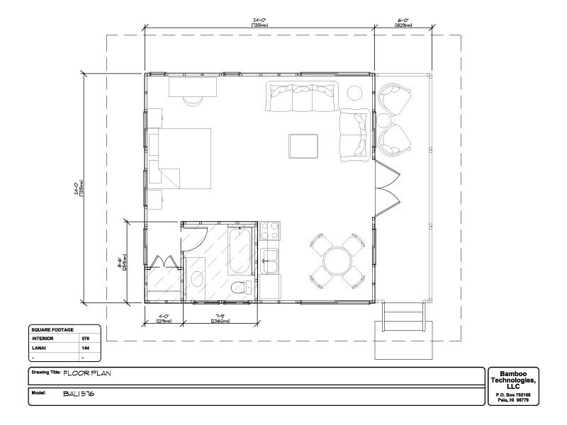 Bamboo living floorplan detail houseplans bungalow - Bamboo house design and floor plan ...
