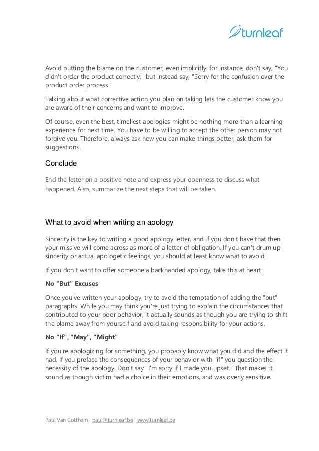 10 Tips for Writing a Corporate Apology Letter | Writing ...