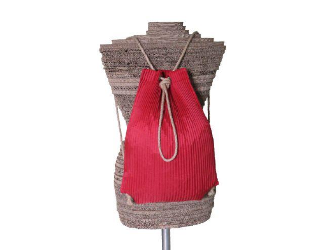 Jolly rosso Zaino/Tracolla - mongolfiera riciclata