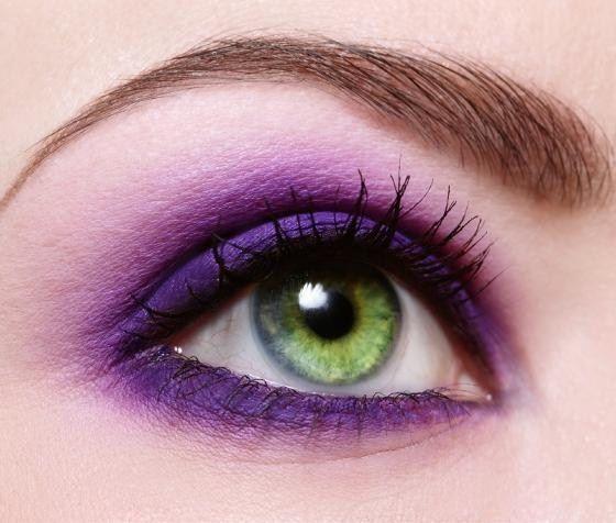 Best Purple Eyes  (makeup tips)