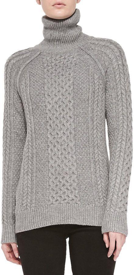 587ce95dc Vince Cable-Knit Turtleneck Sweater on shopstyle.com | naujai-14 ...