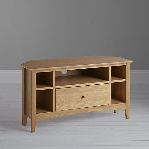 pick up 42077 0dad4 John Lewis & Partners Alba Corner TV Stand for TVs up to 41 ...