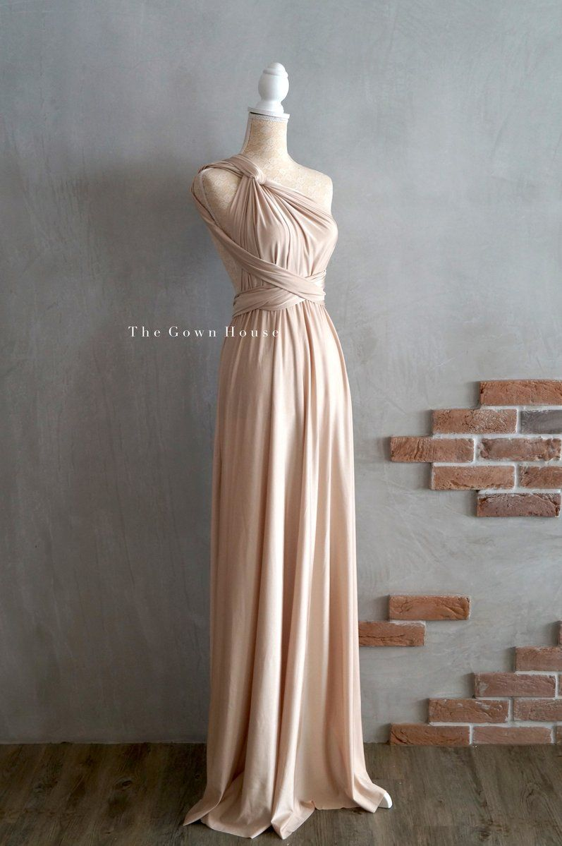 Light gold infinity gown bridesmaid dresses australia dresses