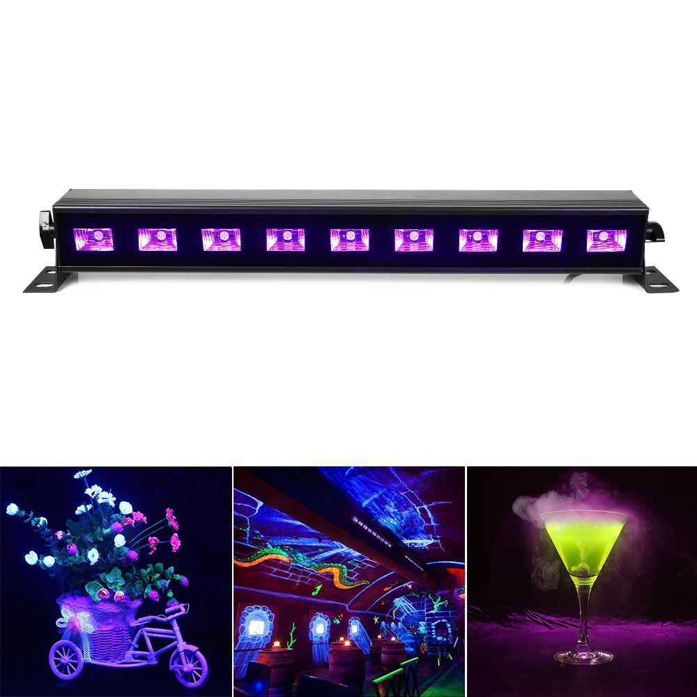 100% Brand New UV Black Light AC90V-240V Led Stage Light Wall Washer Lights for Party,DJ,Show,House Disco Lamps EU/UK/US/AU Plug
