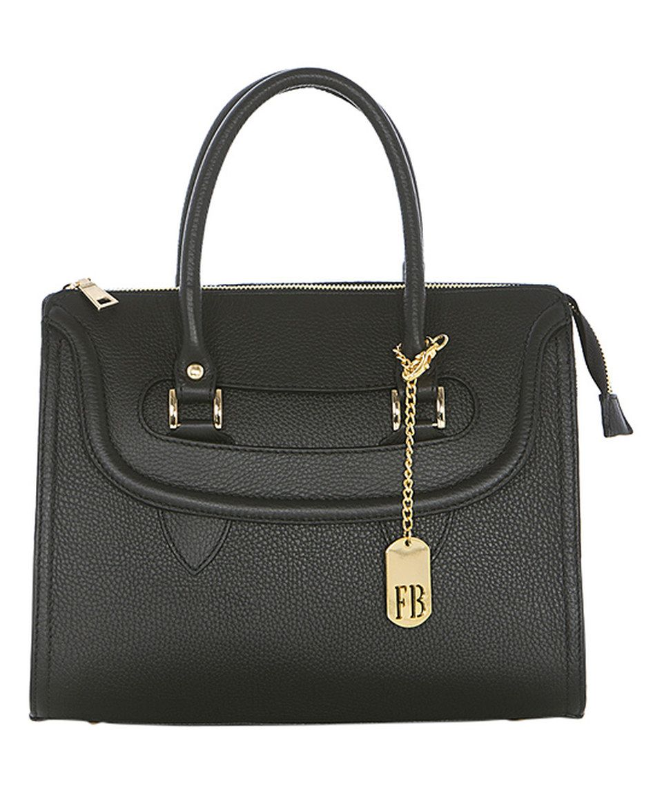 Loving this Black Pebbled Leather Satchel on #zulily! #zulilyfinds
