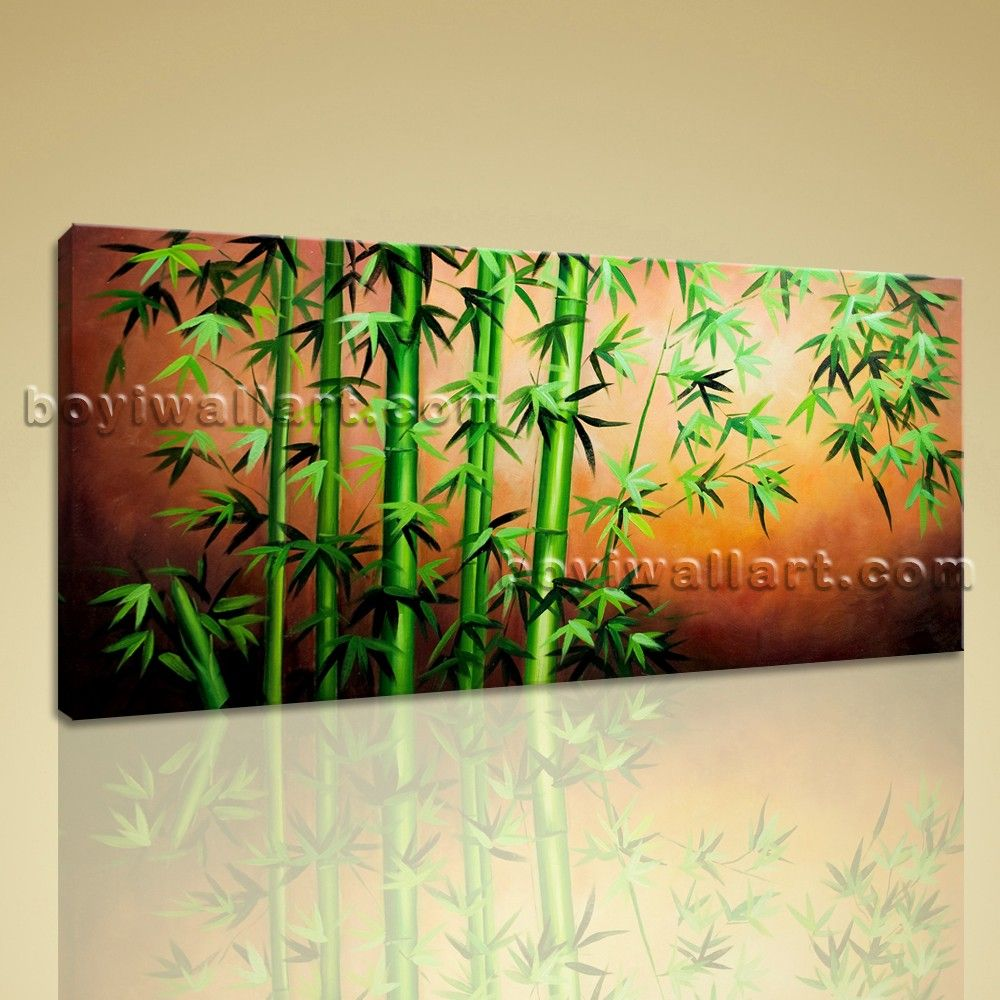Large Original Abstract Feng Shui Painting Giclee Print Bamboo Zen ...