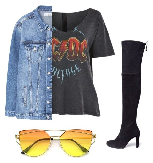 Edgy rock by jordanwallaceee on Polyvore featuring polyvore, fashion, style, Topshop, MANGO, Stuart Weitzman and clothing