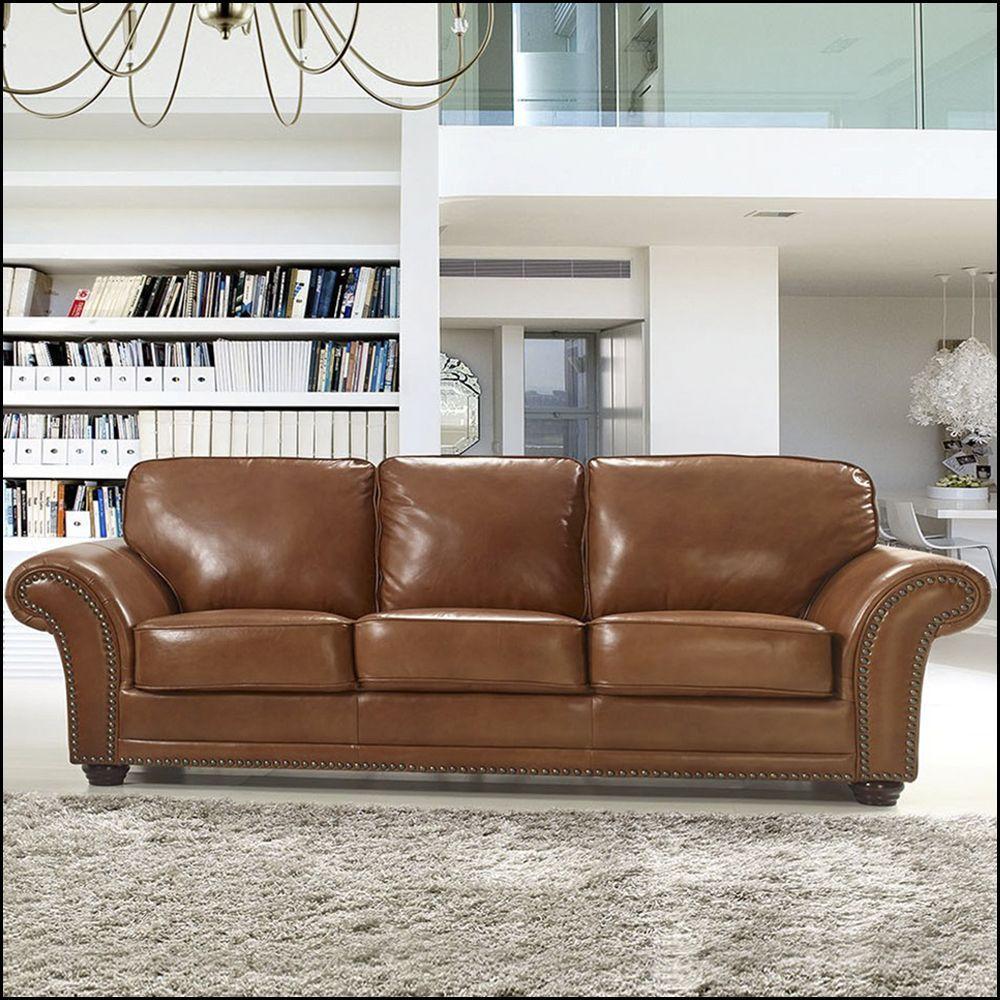 sofá de couro montevideo 3 lugares