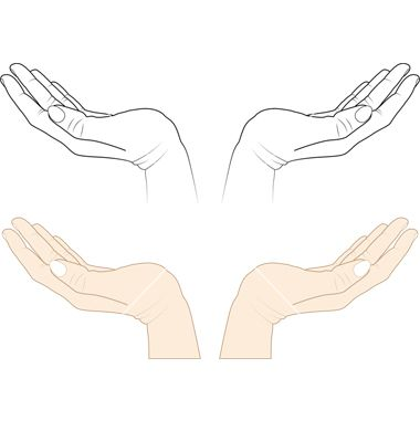 Open Hands Vector Image On Vectorstock How To Draw Hands Hand Illustration Open Hands