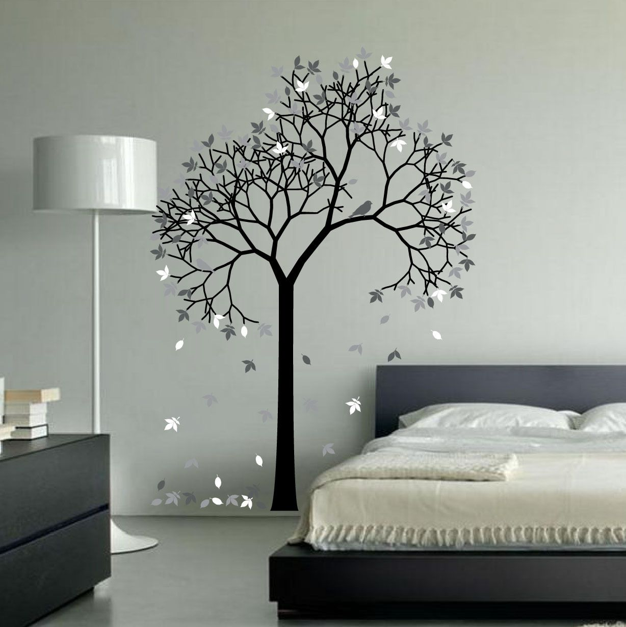 Aspen Tree Wall Decal Sticker Vinyl Nursert Art Leaves and