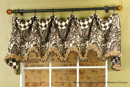 Model Of Decorate Your Home With Our Cuff top Valance Sewing Pattern Curtains Scallop Edge Valance Trimmed With Piping Can Be Adapted To Fit Any Size Window Top Search - Review valance patterns In 2018