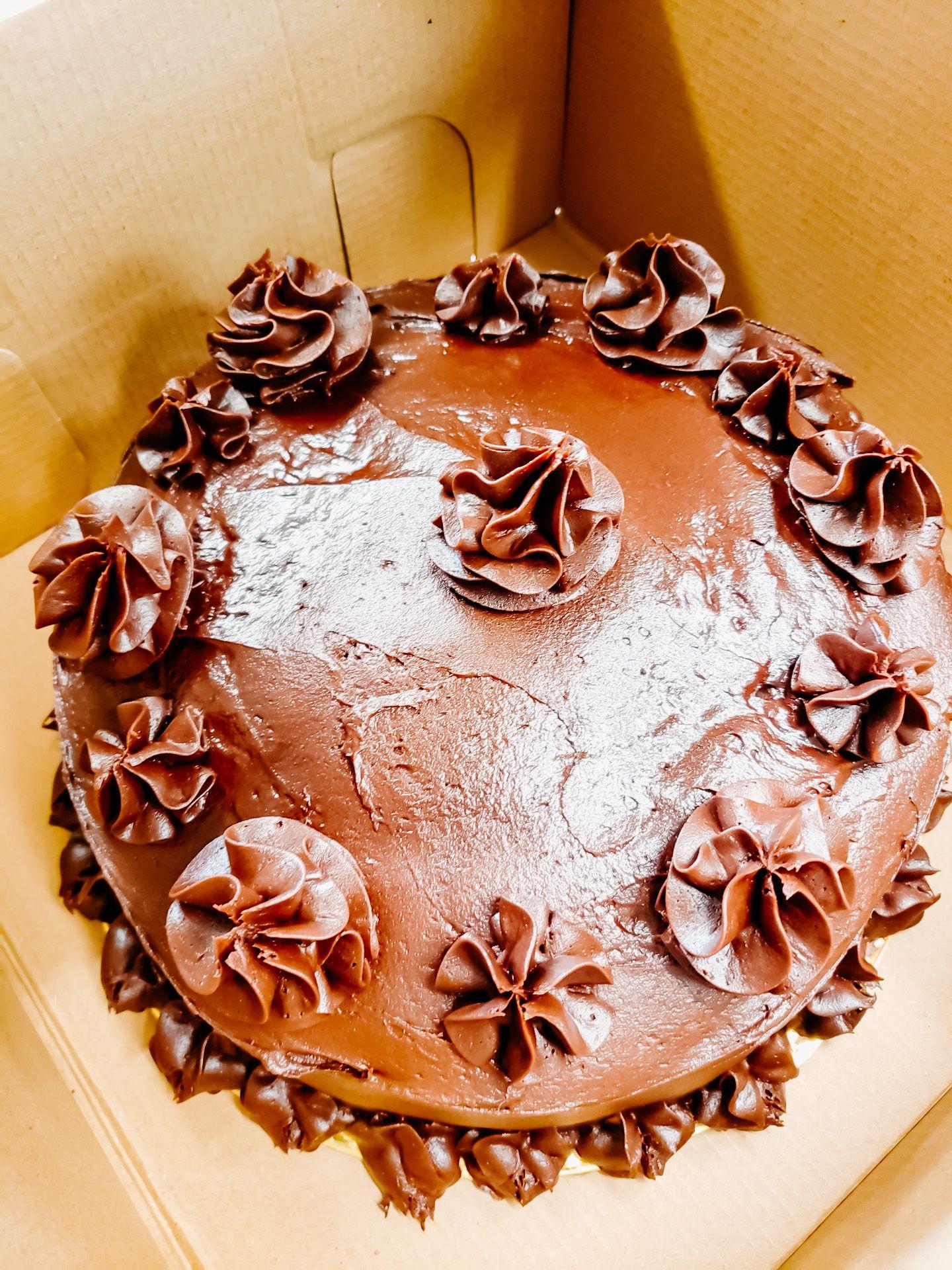 Doub choc cake ashford acres inn breakfast cupcakes