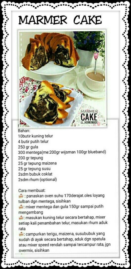 Cake Marmer Resep Masakan Kue Zebra Ide Makanan