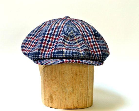 Blue Tartan  Wool Mix Flat Cap-Fully Lined-Traditional Style Pattern-Scottish