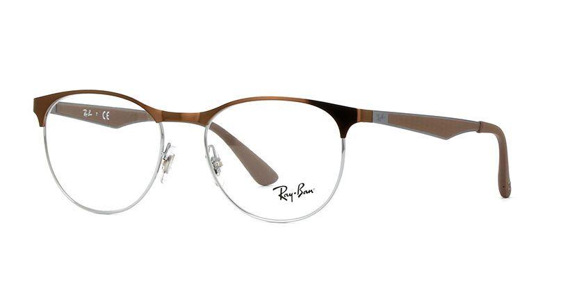 Ray-Ban RB 6365 2531 Round Eyeglasses Glasses Brown