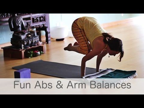 free yoga class fun with abs and arm balances yoga with