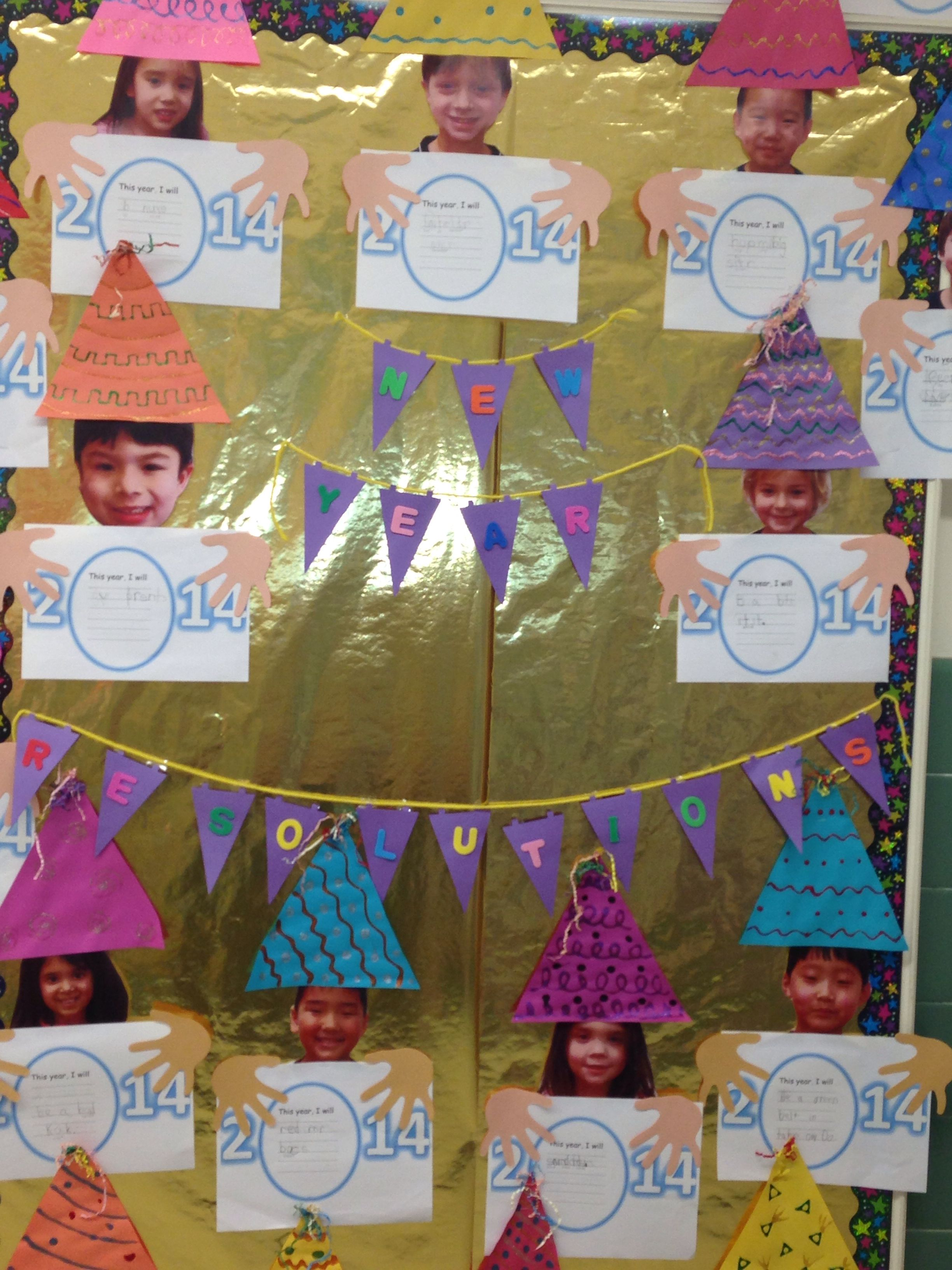 New Years resolution kindergarten bulletin board ...