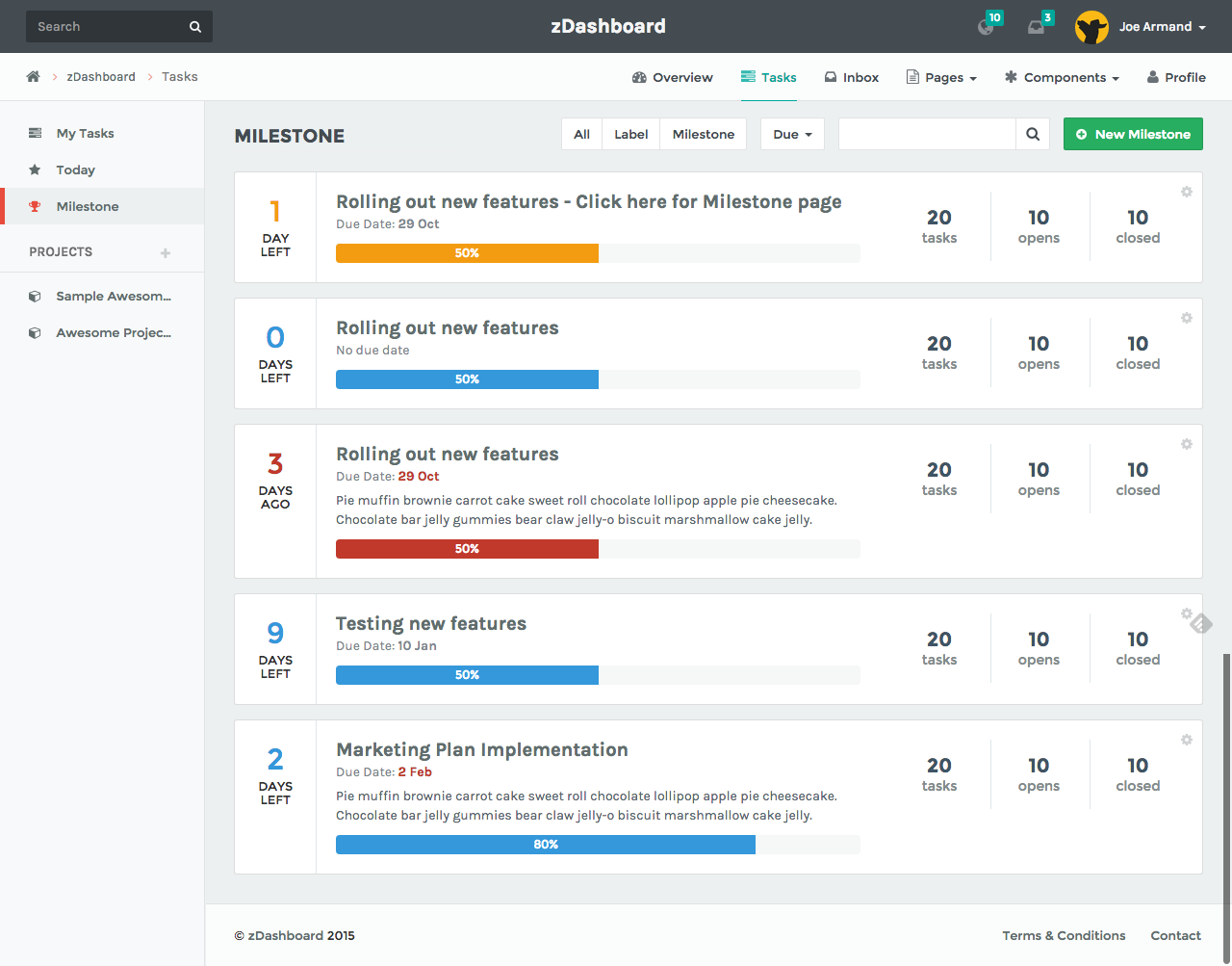 Zdashboard Simplest Dashboard Login Page Design Project Management Tools Dashboard Design
