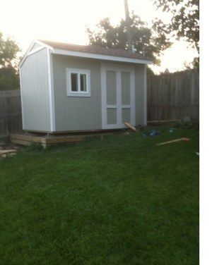 12x8 saltbox shed picture from jeff - Treehouse Plans 12x8