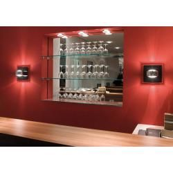 Photo of Oligo Grace Unlimited halogen wall lamp chrome glass plate concrete structure Oligo
