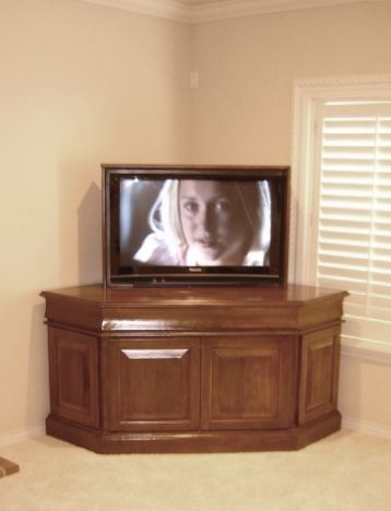 corner cabinet tv lift by matukewicz furniture tv lift furniture