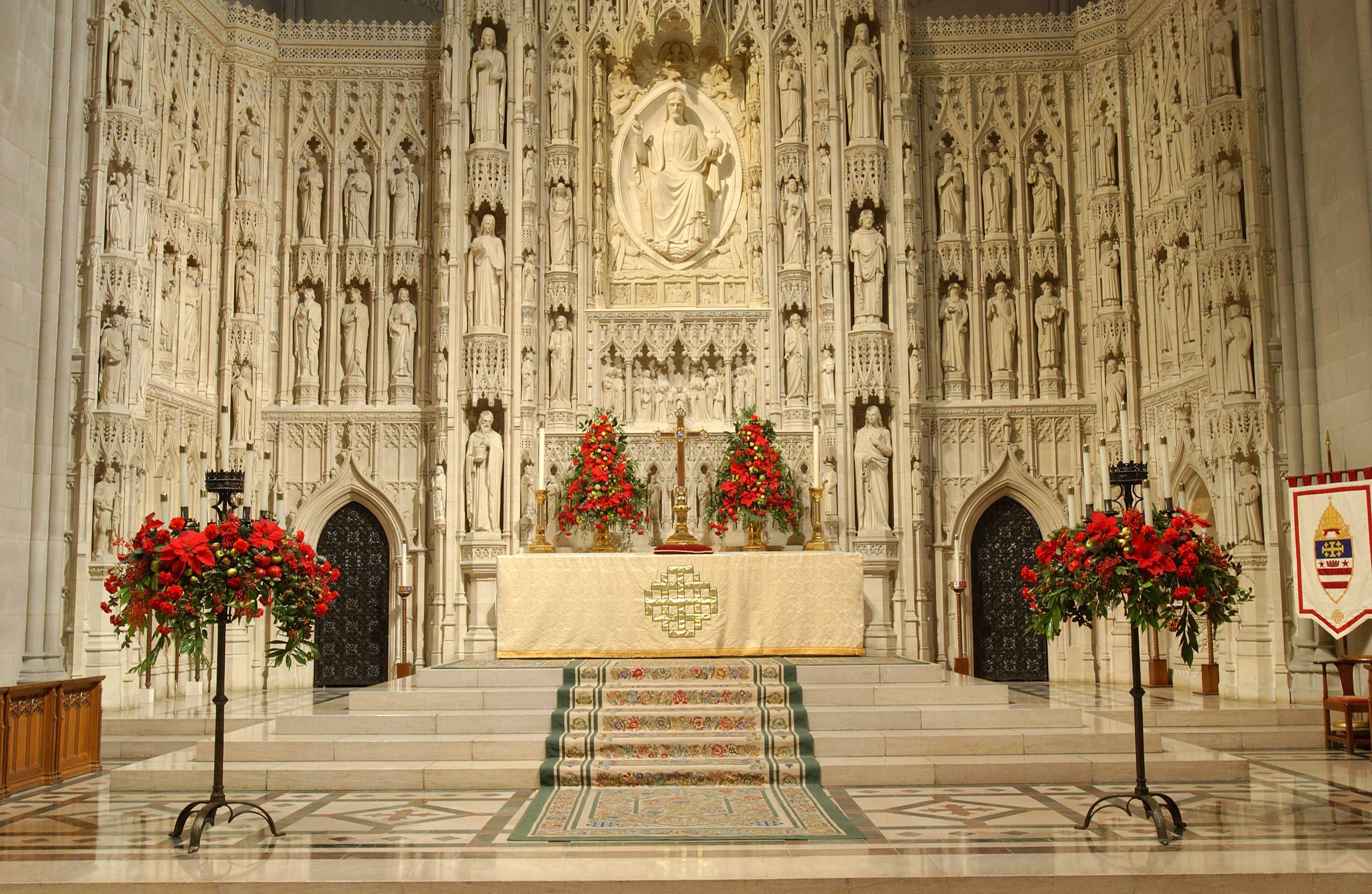 National Cathedral Washington Dc At Christmas